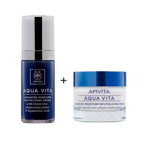 APIVITA AQUA VITA PACK CREMA LIGHT+SERUM 50+30 ml