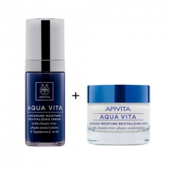APIVITA AQUA VITA PACK CREMA LIGHT+SERUM 50+30 ml