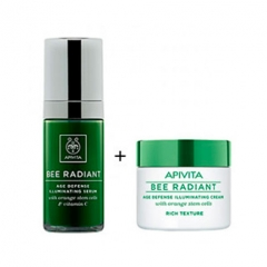 APIVITA BEE RADIANT PACK CREMA RICA+SERUM 50+30 ml